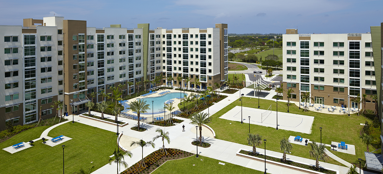 Florida Atlantic University: Innovation Village Apartments exterior aerial